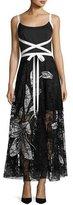 Sachin + Babi Balance Sleeveless Crepe & Lace Evening Gown, Jet