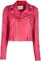 Balmain Pierre ribbed biker jacket