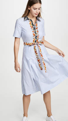 Tory Burch Cotton Patchwork Shirtdress