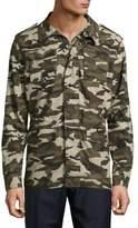 Saks Fifth Avenue Linen-Blend Camo-Print Field Jacket