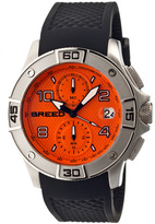 Breed Silver & Orange Raylan Chronograph Watch