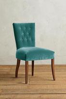 Anthropologie Velvet Abner Dining Chair