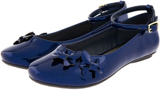 Monsoon Butterfly Patent Ballerina Flats Blue