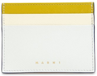 Marni Multicolor Saffiano Leather Card Holder