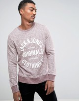Jack and Jones Graphic Melange Sweat