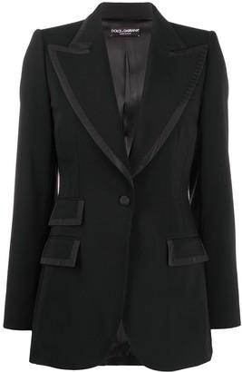 Dolce & Gabbana Peak Lapel Blazer Jacket