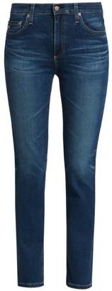 AG Jeans Mari High-Rise Slim Straight Jeans
