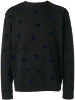 McQ by Alexander McQueen Swallow patch jumper - men - Cotton - XS