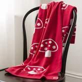 Speckled House Mushroom Organic Cotton Blanket