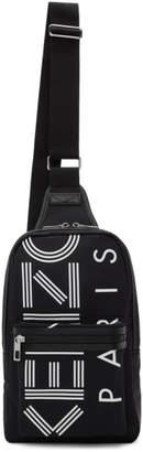 Kenzo Black Nylon Sport Backpack