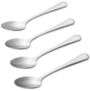 Bonjour 4-Pc. Stainless Steel Espresso & Demitasse Spoons