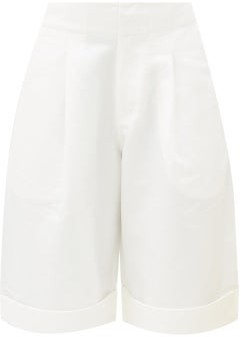 Apiece Apart Enchanta High-rise Linen-blend Shorts - Cream