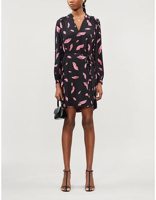 Diane von Furstenberg Glenda lip-print silk-crepe mini dress