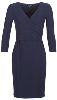 Lauren Ralph Lauren 3/4 SLEEVE DAY DRESS women's Dress in Blue