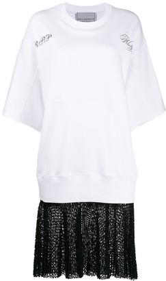 Philosophy di Lorenzo Serafini oversized layered-effect T-shirt dress