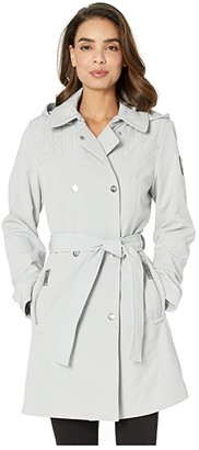 Vince Camuto Hooded Softshell Jacket V19731 (Silver Grey) Women's Coat