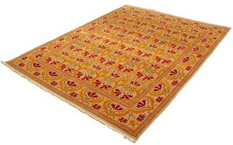 Ecarpetgallery Oriental Hand Knotted Wool Red/Orange/Yellow Area Rug