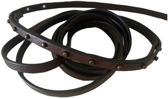 Isabel Benenato Brown Leather Belts