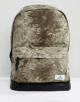 Asos Backpack In Khaki Tie Dye