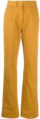Fendi Logo-Patch Straight-Leg Jeans