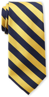 Tommy Hilfiger Navy & Yellow Hampton Stripe Tie