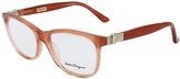 Salvatore Ferragamo Orange Gradient Rectangle Eyeglasses