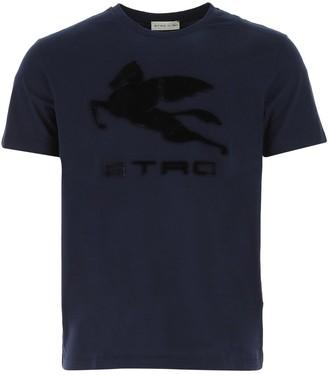 Etro Logo Patch Crewneck T-Shirt