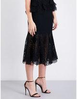 Jonathan Simkhai Floral-lace and mesh midi skirt