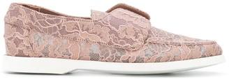 Le Silla Paris lace loafers