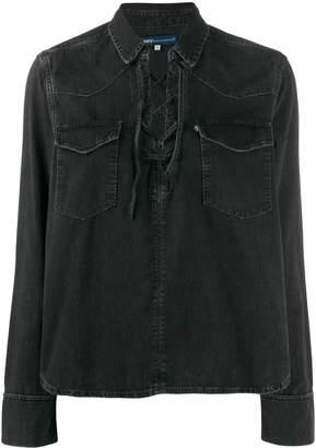Levi's lace-up detail blouse