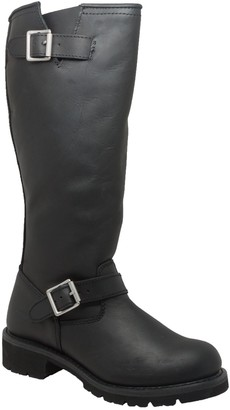 AdTec Ad Tec Women's Three Buckle Boot Black-W Motorcycle (Black Numeric_6_Point_5)