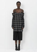 R 13 black plaid slip shirtdress