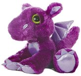 Aurora Dreamy Eyes Flame 10 Plush Purple Dragon by by