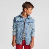 art class Boys' Distressed Denim Trucker Jacket - Art Class Light Indigo
