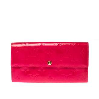 Louis Vuitton Sarah Pink Patent leather Wallets