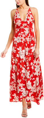 Yumi Kim Silk Maxi Wrap Dress