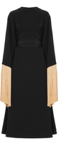 Ellery Ritz Fringe Sleeve Wrap Dress