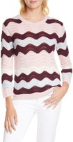 LoveShackFancy Ariella Zigzag Alpaca & Wool Blend Sweater