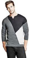 GUESS Men's Bedford Slit-Neck Sweater