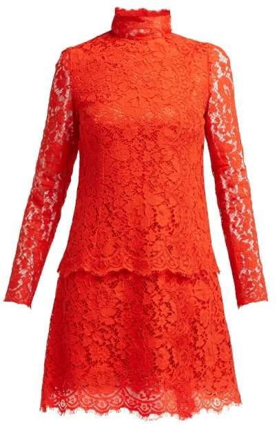 Dolce & Gabbana Cotton Blend Lace Dress - Womens - Red