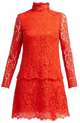 Dolce & Gabbana Cotton-blend Lace Dress - Womens - Red