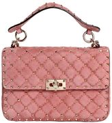 Valentino Medium Spike Quilted Suede Shoulder Bag