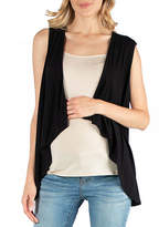 24/7 Comfort Apparel Sleeveless Open Front Cardigan Vest