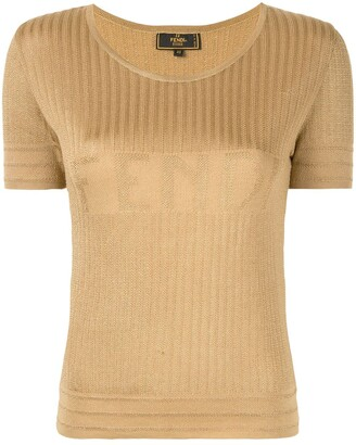 Fendi Pre-Owned Logo Knit Top