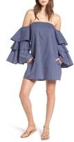 Faithfull The Brand Women's Phi Phi Ruffle Sleeve Off The Shoulder Dress