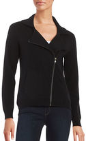 Lord & Taylor Motorcycle Cashmere Cardigan