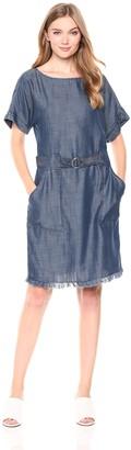 Jones New York Women's Dolman SLV Dress with Fringed Hem