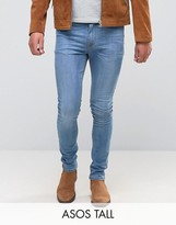 Asos TALL Super Skinny Jeans In Light Wash
