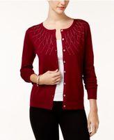 Karen Scott Studded Long-Sleeve Cardigan, Created for Macy's