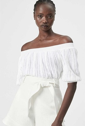 Witchery Crochet Off Shoulder Knit